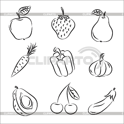 Fruits and Vegetables | Stock Vector Graphics |ID 3063079