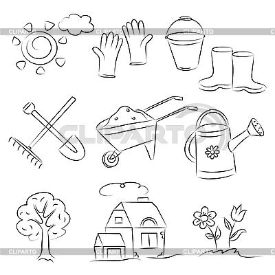 Garten-Cliparts | Stock Vektorgrafik |ID 3063099