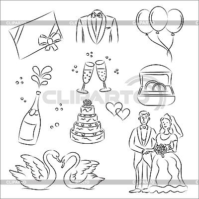 Ślub | Klipart wektorowy |ID 3063105