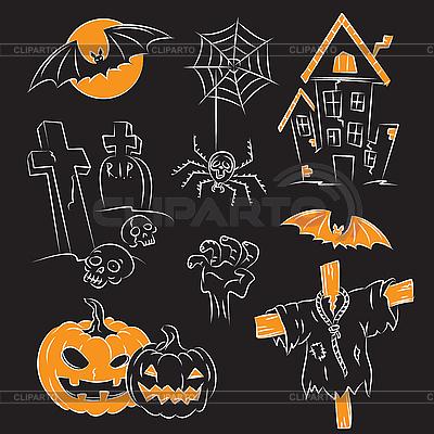 Хэллоуин | Векторный клипарт |ID 3064967