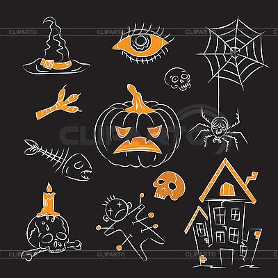 Halloween Witch Stuff | Klipart wektorowy |ID 3064969