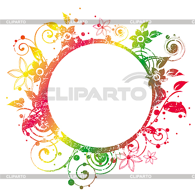 Floral Round Frame | Stock Vector Graphics |ID 3065031