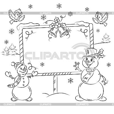 Schneemänner | Stock Vektorgrafik |ID 3081012