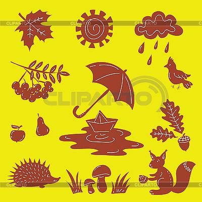 Herbstliche Silhouetten | Stock Vektorgrafik |ID 3082265