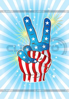 Ręka Victory | Klipart wektorowy |ID 3082409
