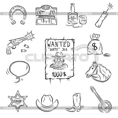 Wild West Icons | Stock Vector Graphics |ID 3082413
