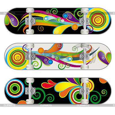 Three Skateboard Designs | Stock Vector Graphics |ID 3082434