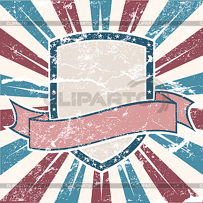 Old USA colors Shield Grunge | Stock Vector Graphics |ID 3082453