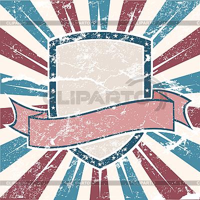 Amerikanischer Grunge-Rahmen mit Streifen und Sternen | Stock Vektorgrafik |ID 3082453