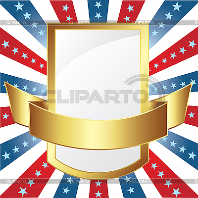 American frame with stripes and stars | Stock Vector Graphics |ID 3082479
