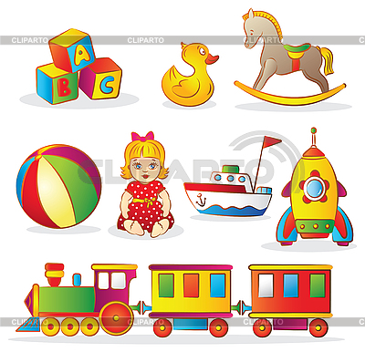 Baby Toys Set | Stock Vector Graphics |ID 3097314