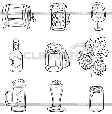 Zestaw Beer | Klipart wektorowy |ID 3097317
