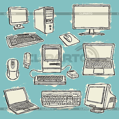 Computers Set | Stock Vector Graphics |ID 3097318