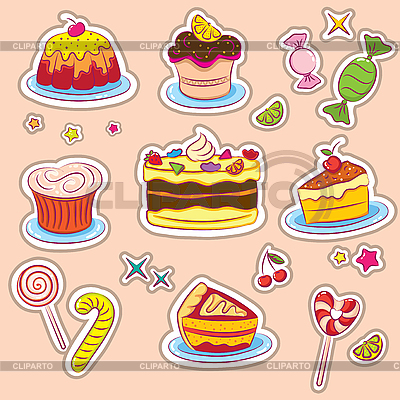 Holiday Sweets stickers | Stock Vector Graphics |ID 3097350