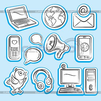互联网和通信 | 向量插图 |ID 3097352