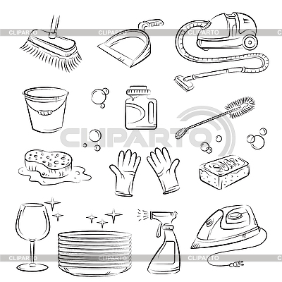 House Cleaning   Stock Vector Graphics  ID 3097367