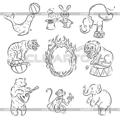 Circus Animals | Stock Vector Graphics |ID 3097370