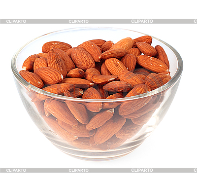 Almonds in glass plate    High resolution stock photo  ID 3068342