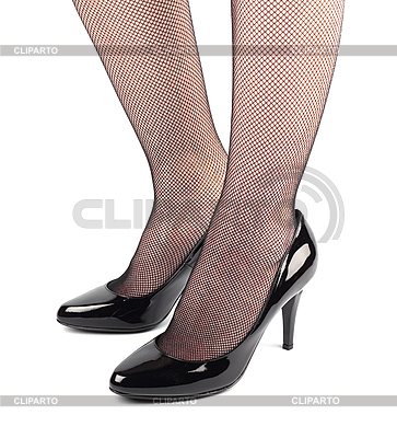 Gir`sl legs in black patent- leather high heeled shoes | High resolution stock photo |ID 3068352