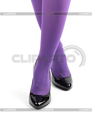 Dziewczyna `s nogi w czarne lakierki wysokie buty na obcasie | Foto stockowe wysokiej rozdzielczości |ID 3068354