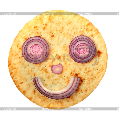 Smile face with red onion | High resolution stock photo |ID 3071739