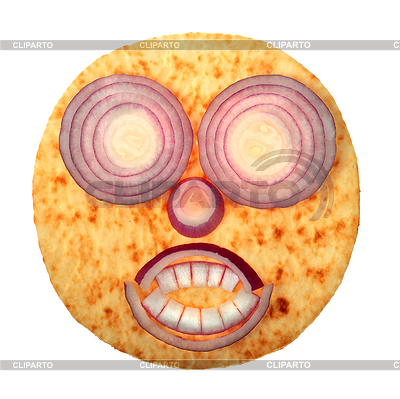 Terrible face with red onion | High resolution stock photo |ID 3071741