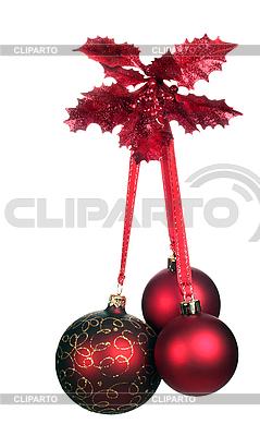 Three red Christmas balls   High resolution stock photo  ID 3113159