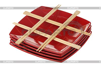 Chopsticks and plates | High resolution stock photo |ID 3060690