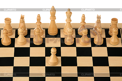Erster Schritt im Schach | Foto mit hoher Auflösung |ID 3060711