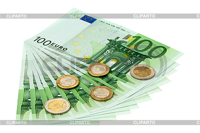 Euro banknotes and coins | High resolution stock photo |ID 3060873