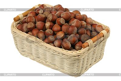 Filbert in basket | High resolution stock photo |ID 3061005
