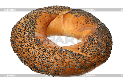 Bagel with poppy seeds   High resolution stock photo  ID 3061007