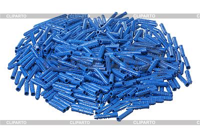 Blue plastic dowels   High resolution stock photo  ID 3061012
