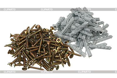 Screws and dowels   High resolution stock photo  ID 3061020