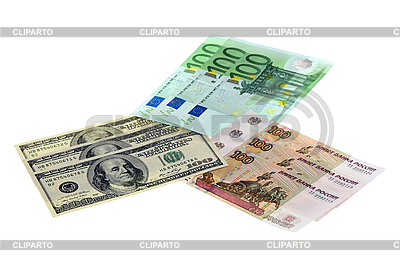 Euro, dollars and roubles | High resolution stock photo |ID 3061406