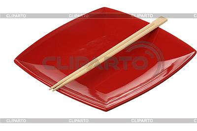 Pałeczki na czerwonym tablicy   Foto stockowe wysokiej rozdzielczości  ID 3179726