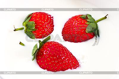 Strawberry in milk   High resolution stock photo  ID 3067245