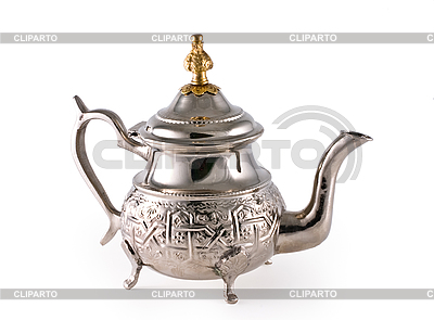 Серебряный чайник | Фото большого размера |ID 3067836