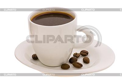 Puchar z kawy i ziarna kawy | Foto stockowe wysokiej rozdzielczości |ID 3067940