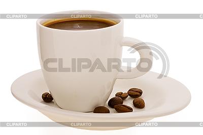 Puchar z kawy i ziarna kawy | Foto stockowe wysokiej rozdzielczości |ID 3068125