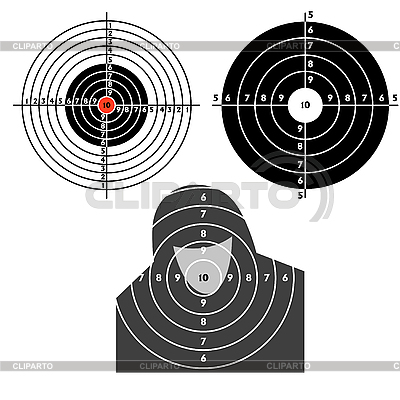 Set targets for practical pistol shooting | Stock Vector Graphics |ID 3067987