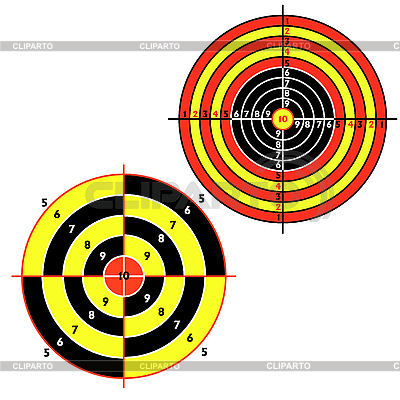 Set targets for practical pistol shooting | Stock Vector Graphics |ID 3067990