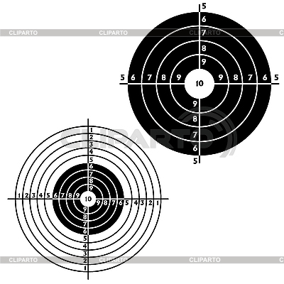 Set targets for practical pistol shooting | Stock Vector Graphics |ID 3068007
