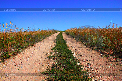 Rural road and the blue sky | High resolution stock photo |ID 3068617
