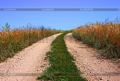 Rural road and the blue sky | High resolution stock photo |ID 3068621
