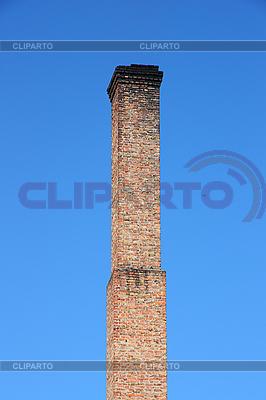 Ziegelschlot in blauem Himmel | Foto mit hoher Auflösung |ID 3068626