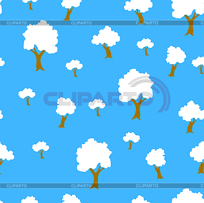 Seamless tree plant pattern background in | Stock Vector Graphics |ID 3069074