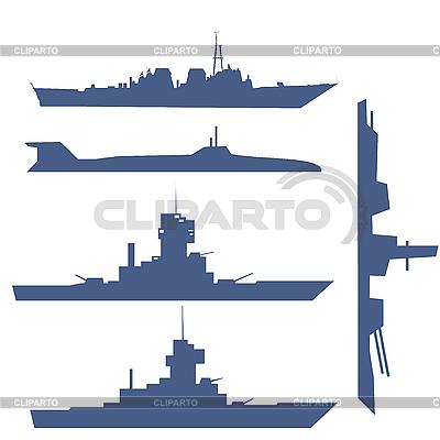 Vier Schiff-Silhouetten | Stock Vektorgrafik |ID 3075414