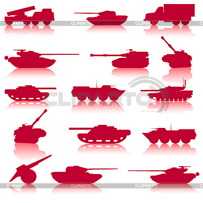 Collection set of tanks of guns | Stock Vector Graphics |ID 3075970