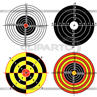 Set of targets for practical pistol shooting | Stock Vector Graphics |ID 3076127